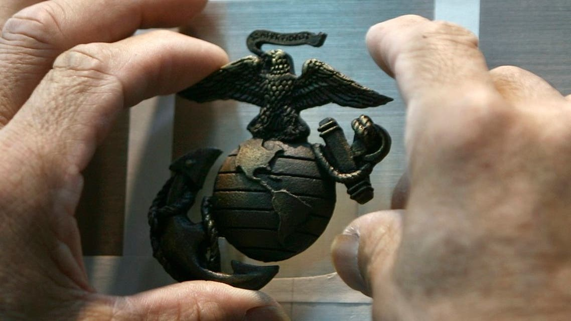 The emblem of the US Marines is affixed to a display at the National Museum of the Marine Corps in Quantico, Virginia. (File Photo: Reuters)