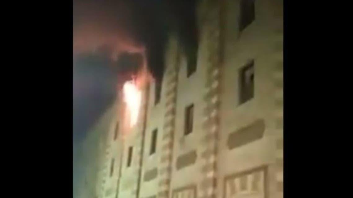 cairo masjid fire