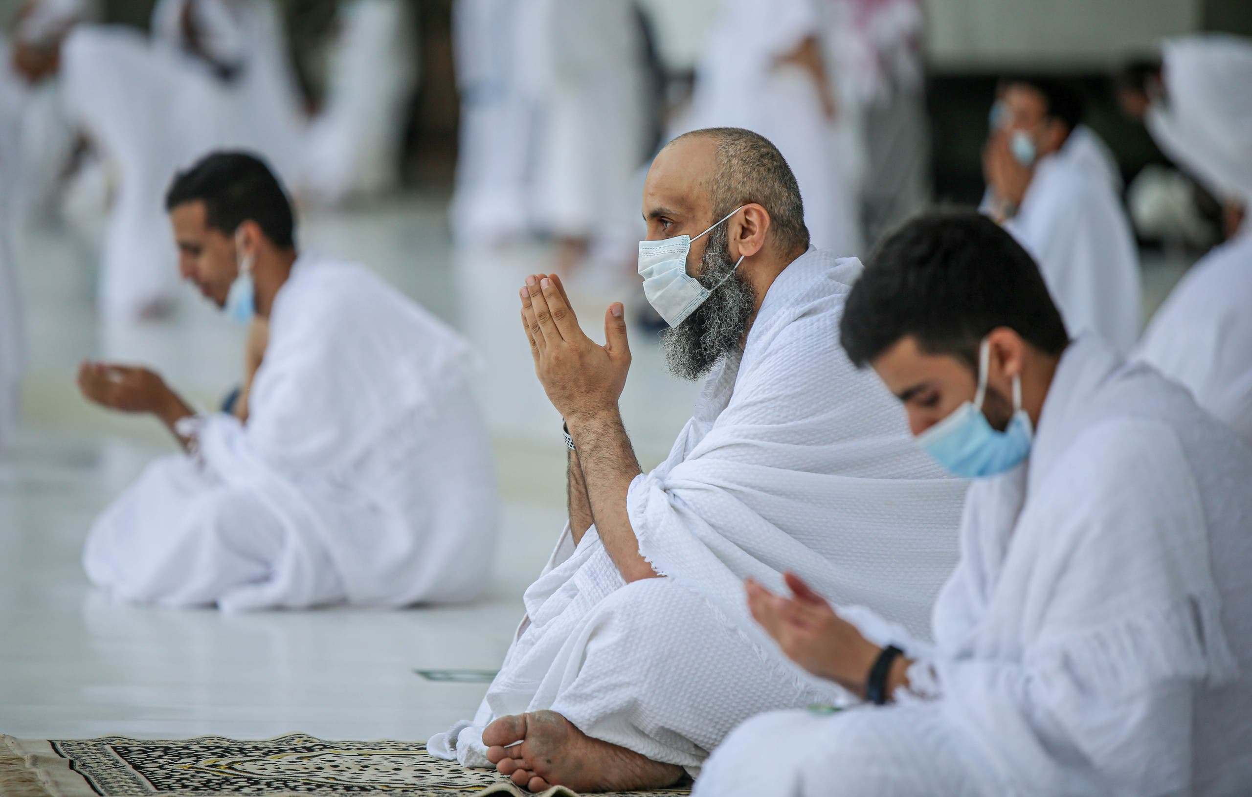Muslims perform Umrah at the Grand Mosque in Mecca, Saudi Arabia. (Reuters)