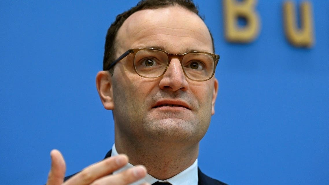 German Health Minister Jens Spahn addresses a news conference amid the coronavirus outbreak. (Reuters)