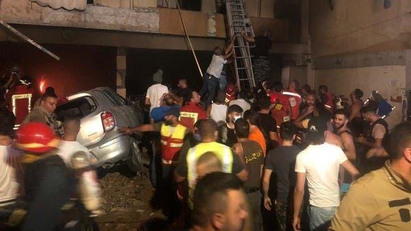 قتلى وجرحى بانفجار خزان لمادة المازوت في بيروت