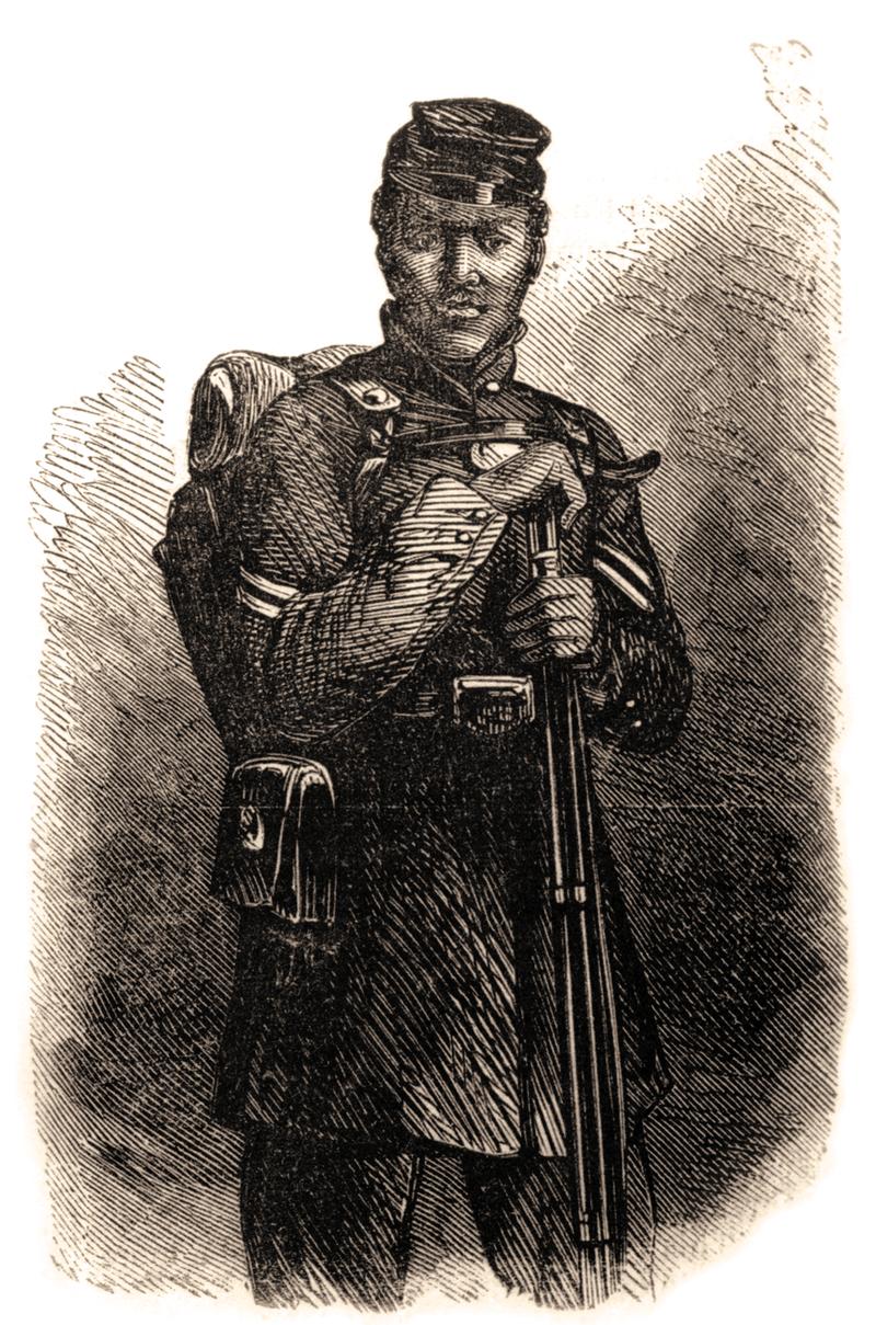 رسم تخيلي لبيتر المجلود عقب انضمامه لقوات الاتحاد