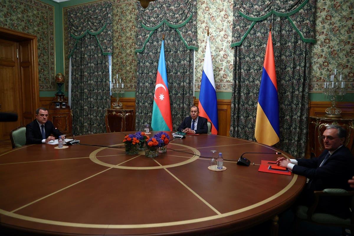 لقاء لافروف مع نظيريه الأذربيجاني والأرميني