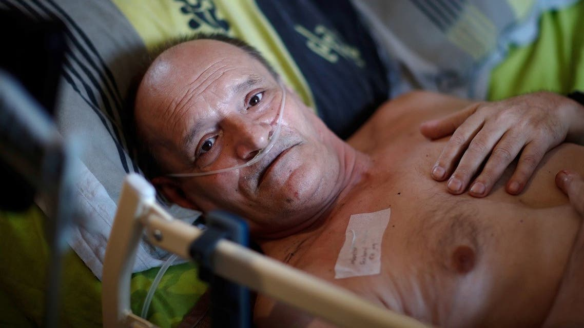 Alain Cocq, suffering from a degenerative disease that has no treatment, wants to die with dignity. (Reuters)