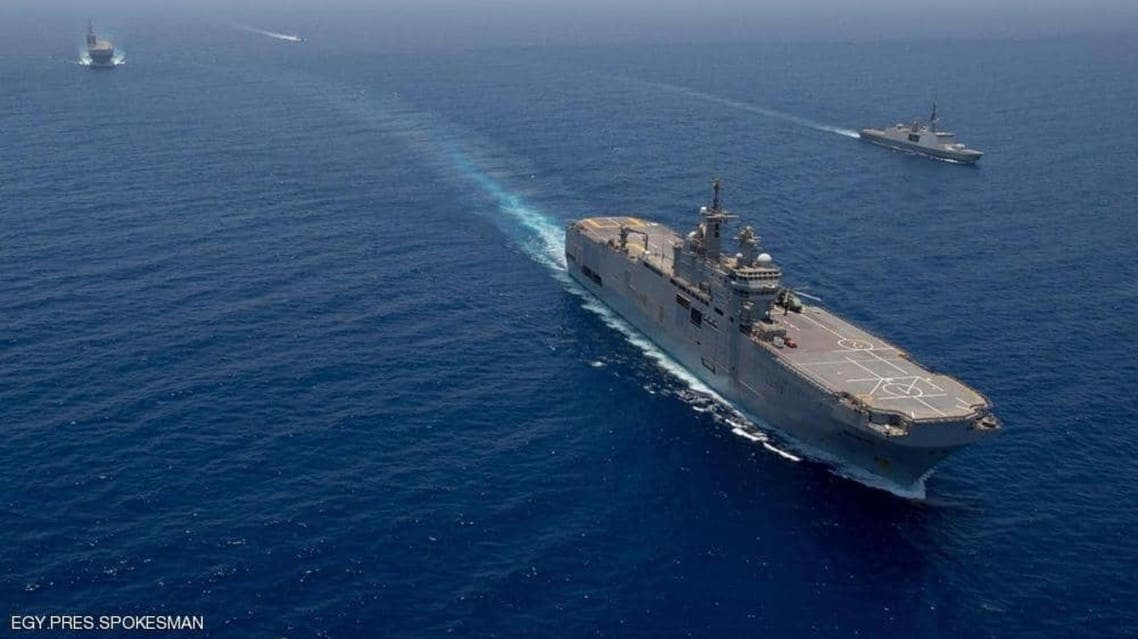 قطع بحرية تابعة للقوات المصرية