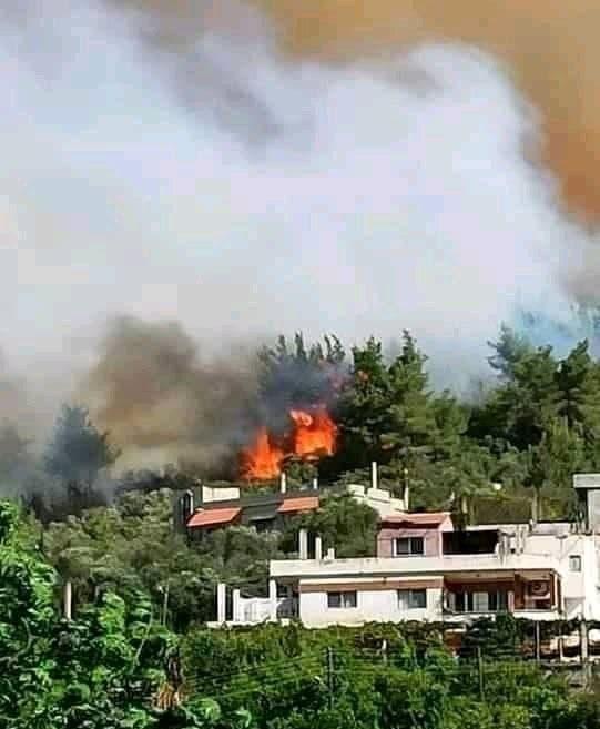 من الحرائق في سوريا، حسب ما يتناقله مغردون على تويتر