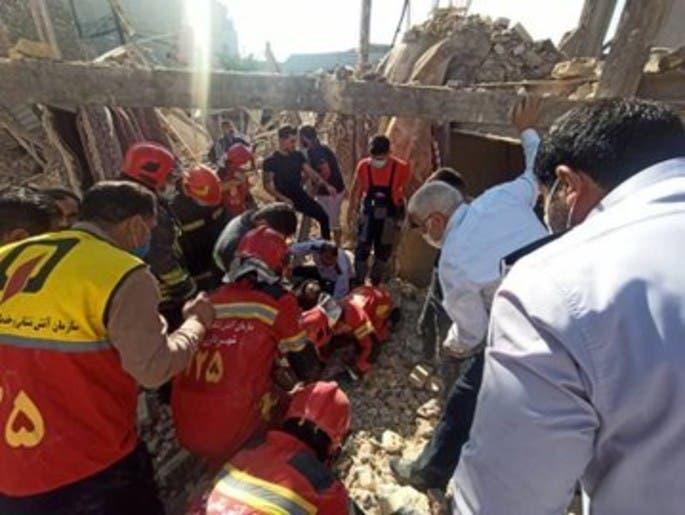 انفجار وتسرب غاز ثانية في إيران.. سوى مبنى بالأرض