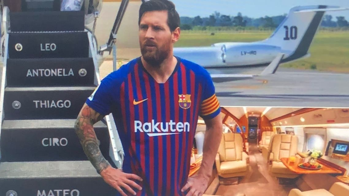 بازیکنان تیم ملی آرژانتین با جت شخصی لیونل مسی پرواز میکنند