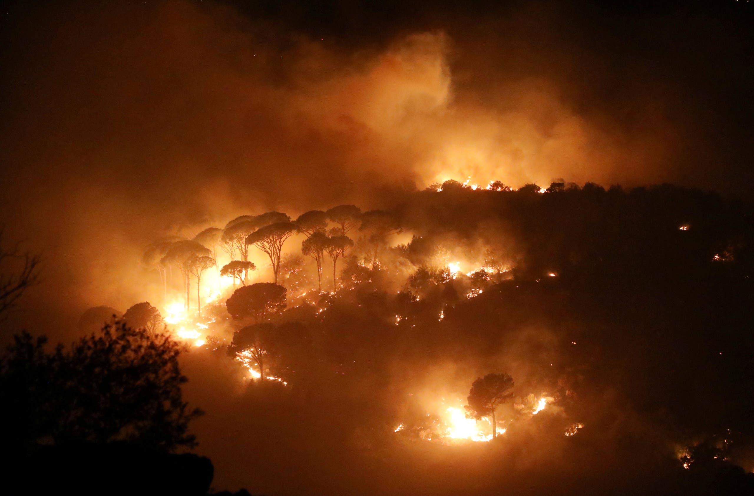 حرائق في لبنان (رويترز)
