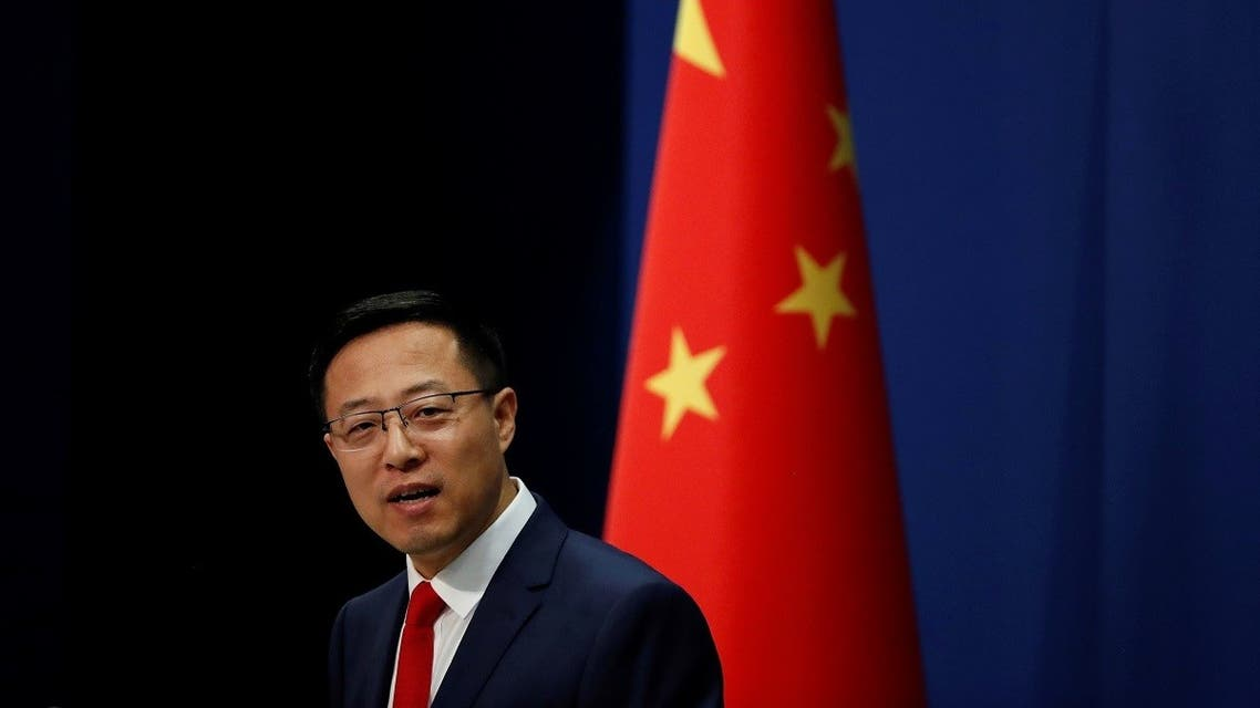 Chinese Foreign Ministry spokesman Zhao Lijian attends a news conference in Beijing, China. (Reuters)1248606169_RC2KVI9D46RG_RTRMADP_3_AUSTRALIA-CHINA-JOURNALISTS