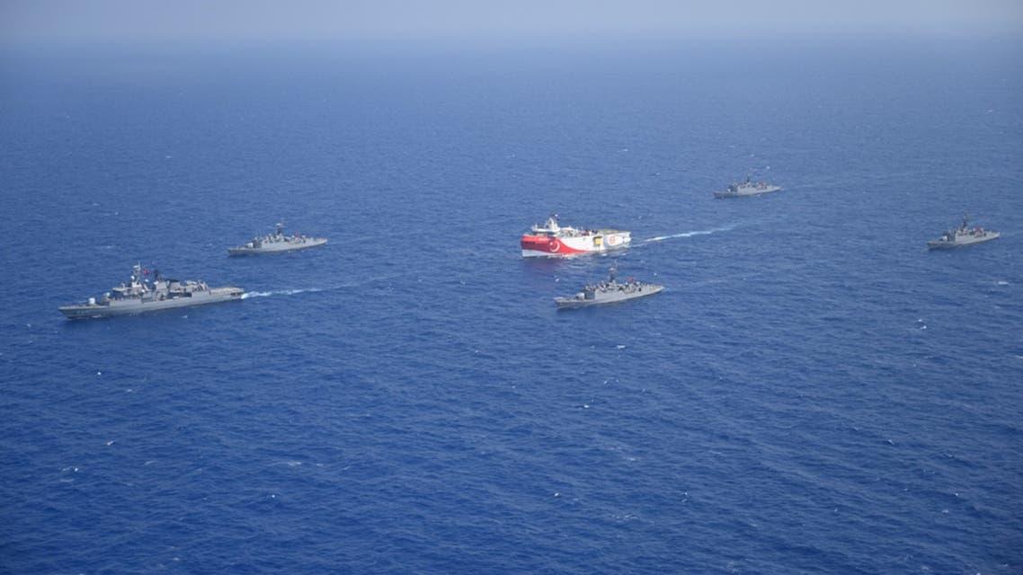سفينة تركية في المتوسط (أرشيفية- رويترز)