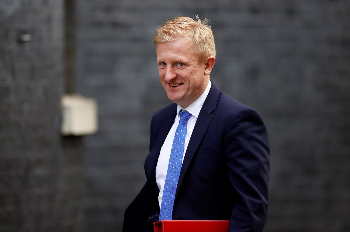 Britain's Secretary of State for Digital, Culture, Media and Sport Oliver Dowden arrives at Downing Street, in London, Britain, on October 7, 2020. (Reuters)