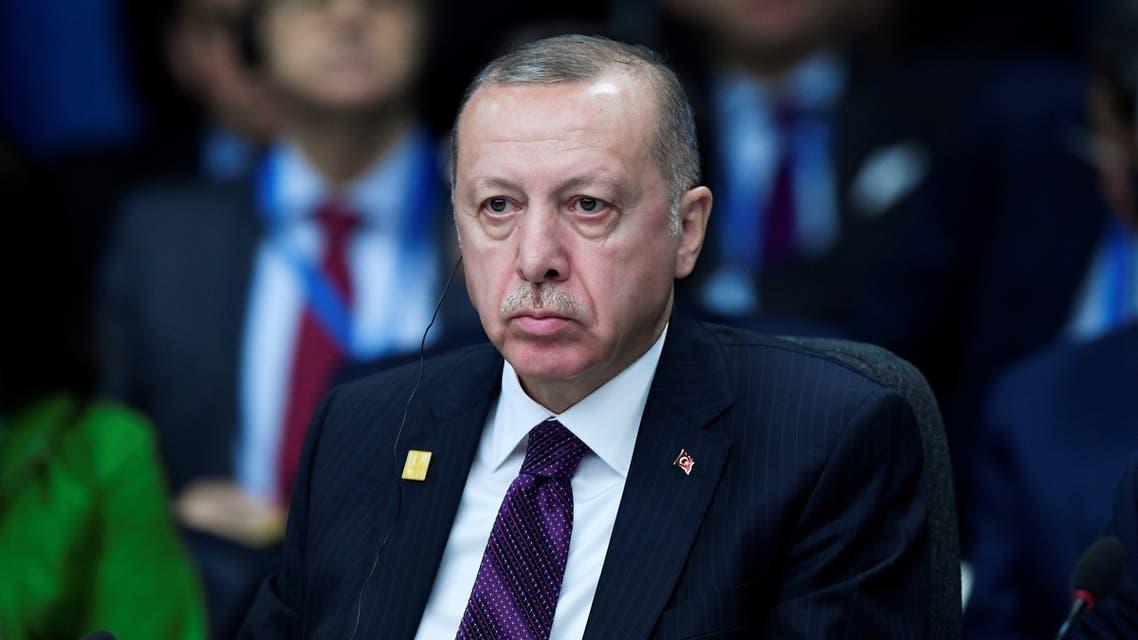 Turkey's President President Tayyip Erdogan attends the NATO leaders summit in Watford, Britain December 4, 2019. (Reuters)