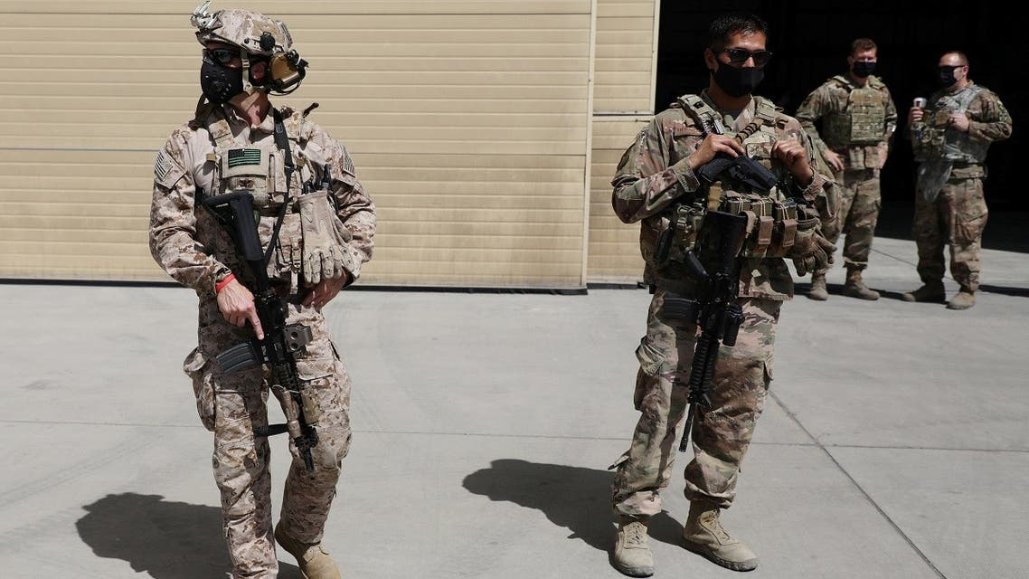 Members of the US forces in the Afghan capital, Kabul, on September 17, 2020. (Reuters)