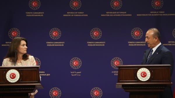 سجال بين وزيرة خارجية السويد ونظيرها التركي في أنقرة
