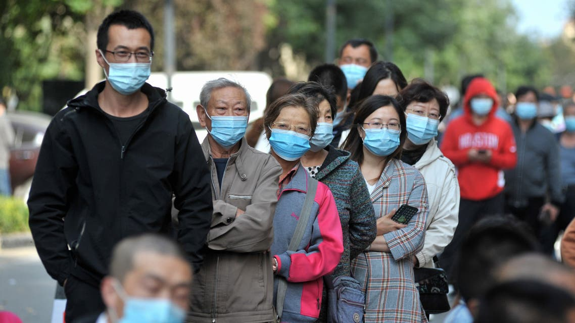 Mass coronavirus tests are carried out in the city of Qingdao, China, September 12, 2020. (AFP)