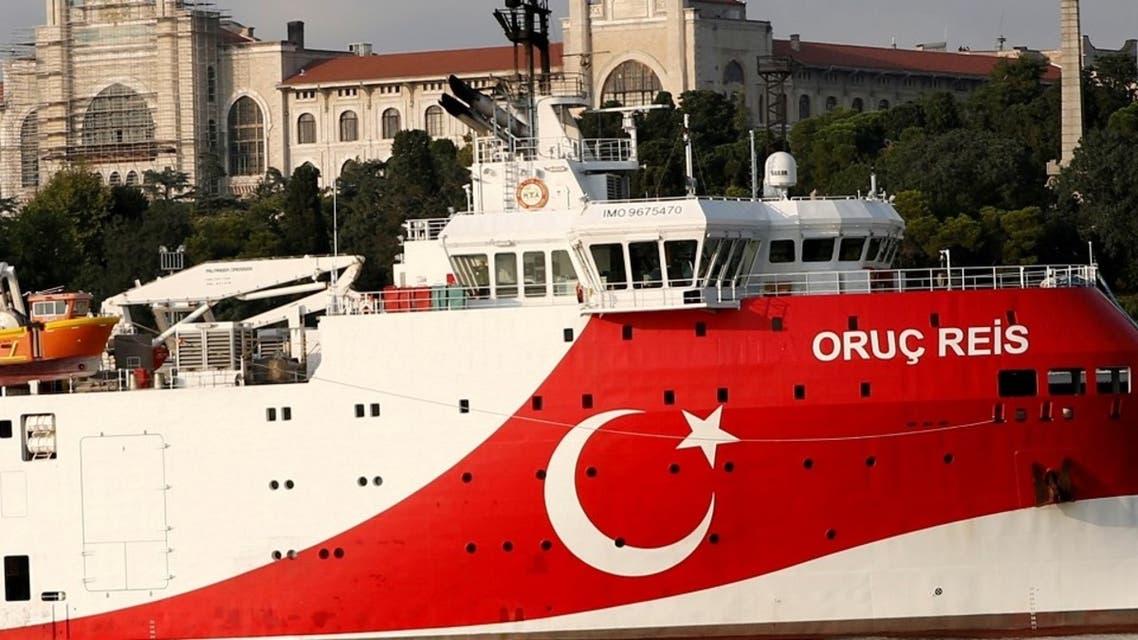 Turkish seismic research vessel Oruc Reis is seen in Istanbul, Turkey, August 22, 2019. (Reuters)