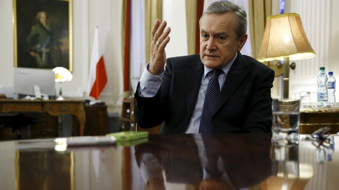 Poland's deputy prime minister and minister of culture Piotr Glinski gestures during  an interview in his office in Warsaw, Poland. (File photo: Reuters)