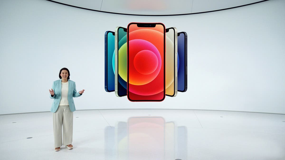 Apple's vice president of iPhone Product Marketing Kaiann Drance unveils the all-new iPhone 12 in Cupertino. (Reuters)