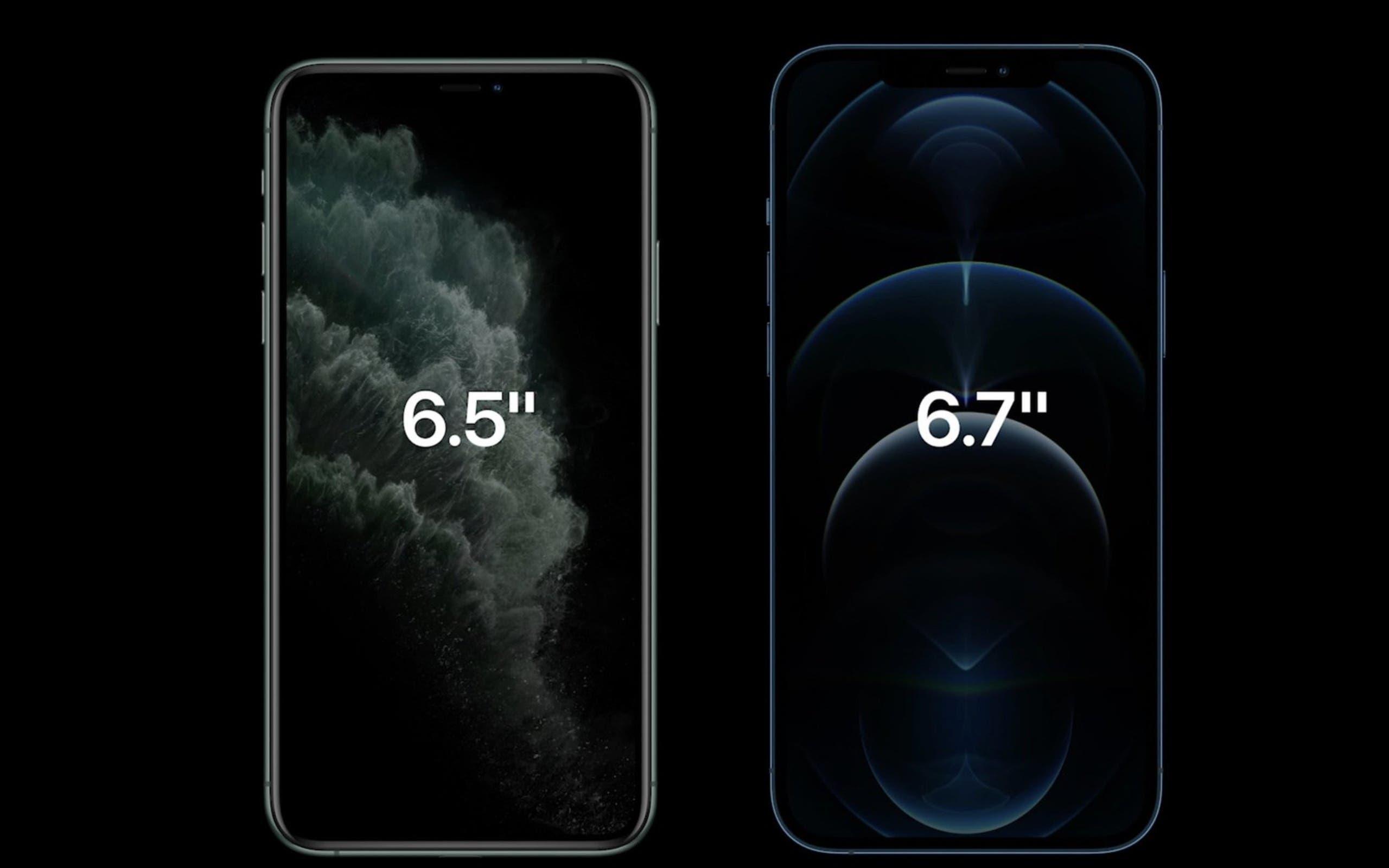 اختلاف الحجم بين آيفون 12 برو وآيفون 11 برو