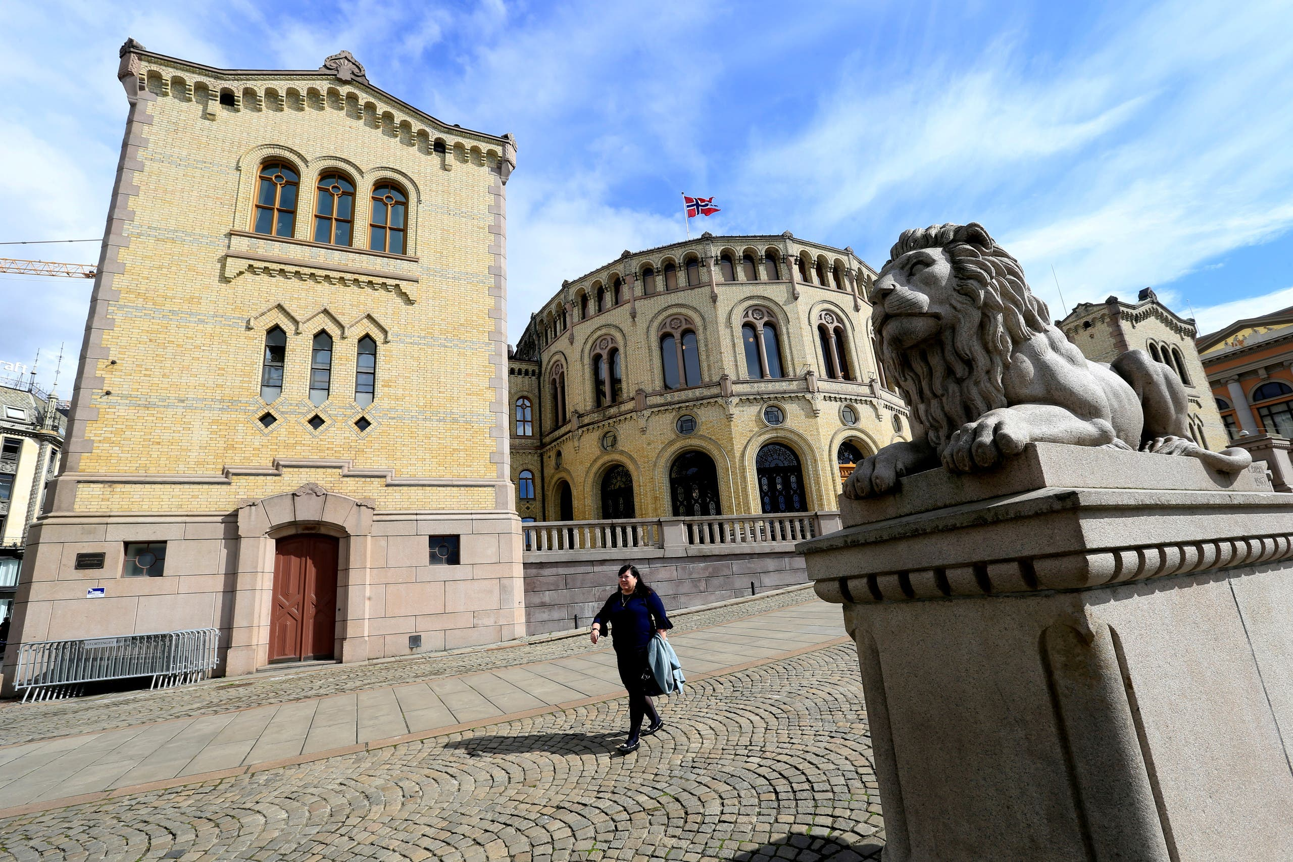 Norwegian Parliament house is seen in Oslo, Norway. (Reuters)