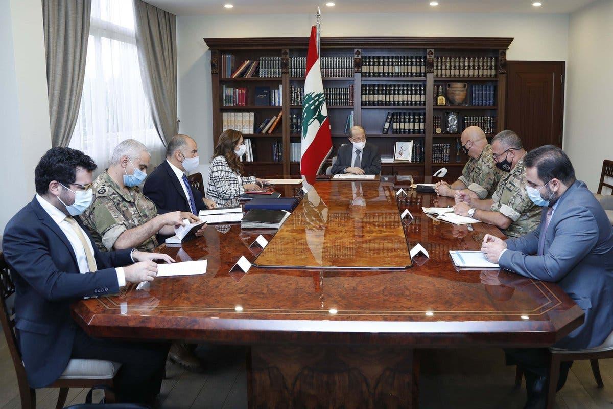 عون يلتقي الوفد المفاوض