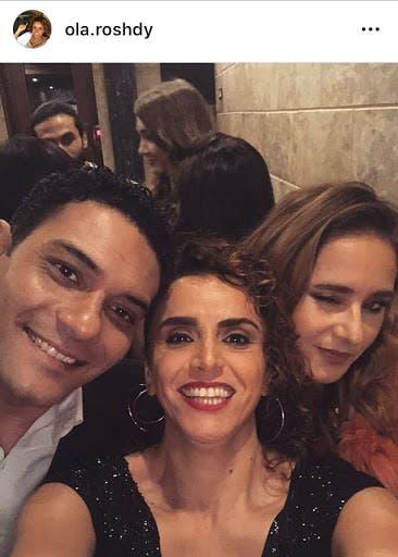 مع أبطال مسلسل 100 وش نيللي كريم و آسر ياسين