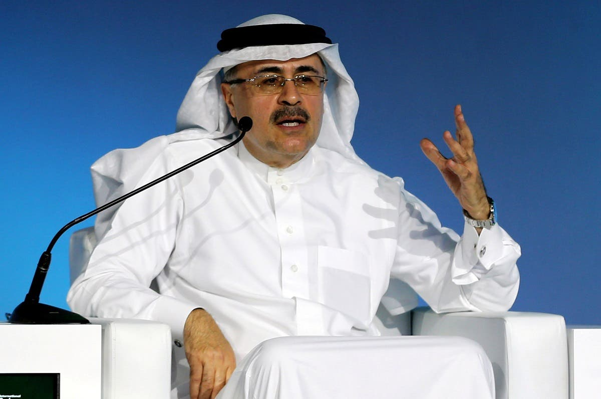 Amin H. Nasser, president and CEO of Saudi Aramco, speaks during the International Carbon Capture, Utilization and Storage Conference 2020 in Riyadh, Saudi Arabia, on February 25, 2020. (Reuters)