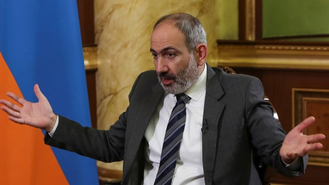 Armenian PM Nikol Pashinyan during an interview with Reuters in Yerevan, Armenia Oct. 13, 2020. (Reuters)