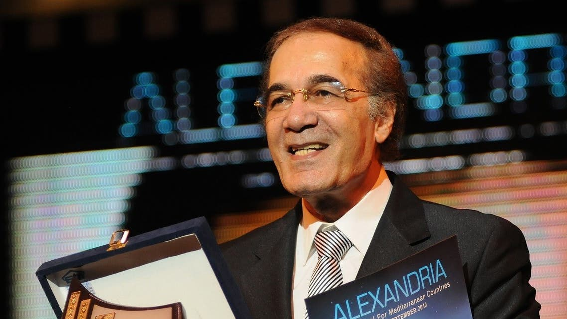 Egypt's veteran actor Mahmoud Yassin receives a life achievement award at the closing ceremony of the Alexandria Film Festival for Mediterranean Countries, Alexandria, Egypt, September 19, 2010. (AFP/Amr Ahmad)