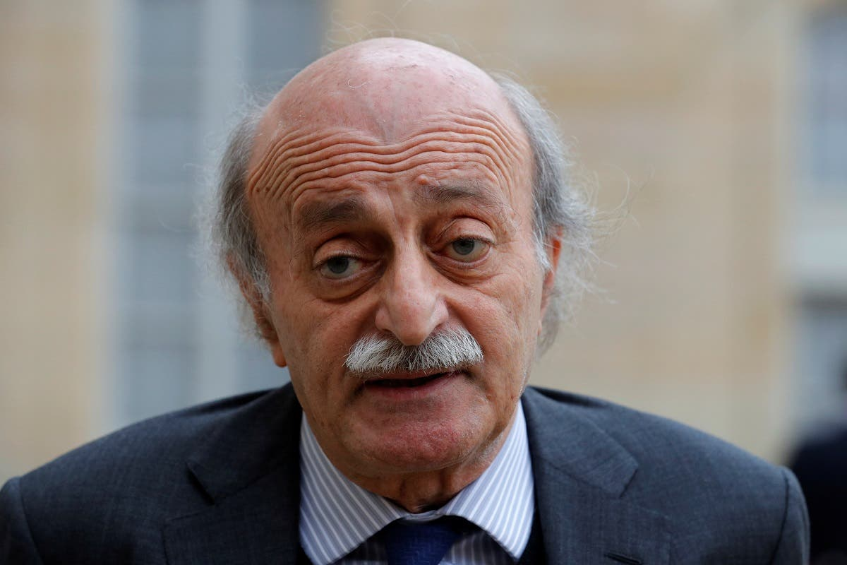 Lebanese Druze leader Walid Joumblatt leaves the Elysee Palace in Paris following a meeting with French President Francois Hollande, Feb. 21, 2017. (Reuters)