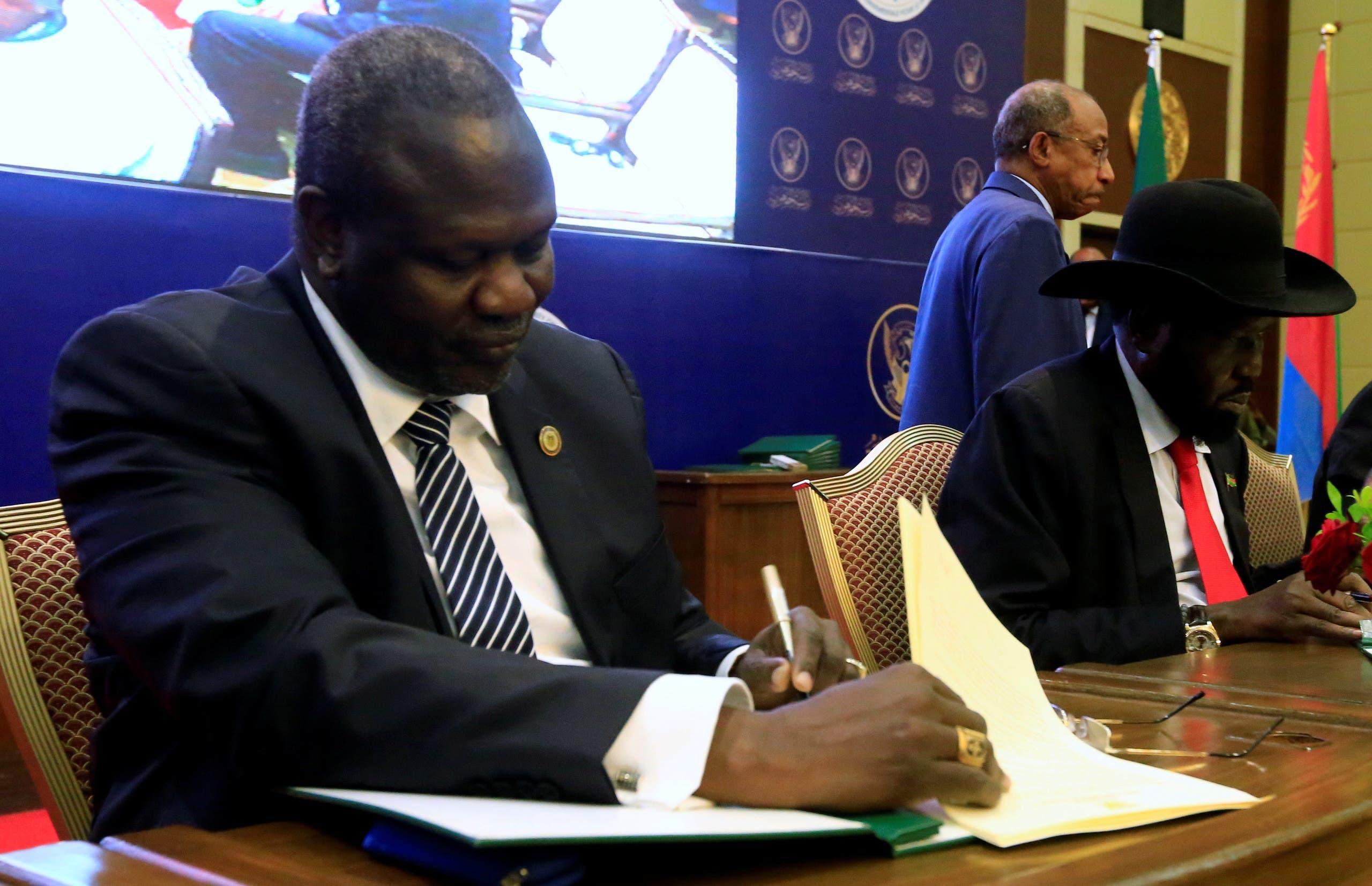 من توقيع اتفاق السلام في الخرطوم في سبتمبر 2018