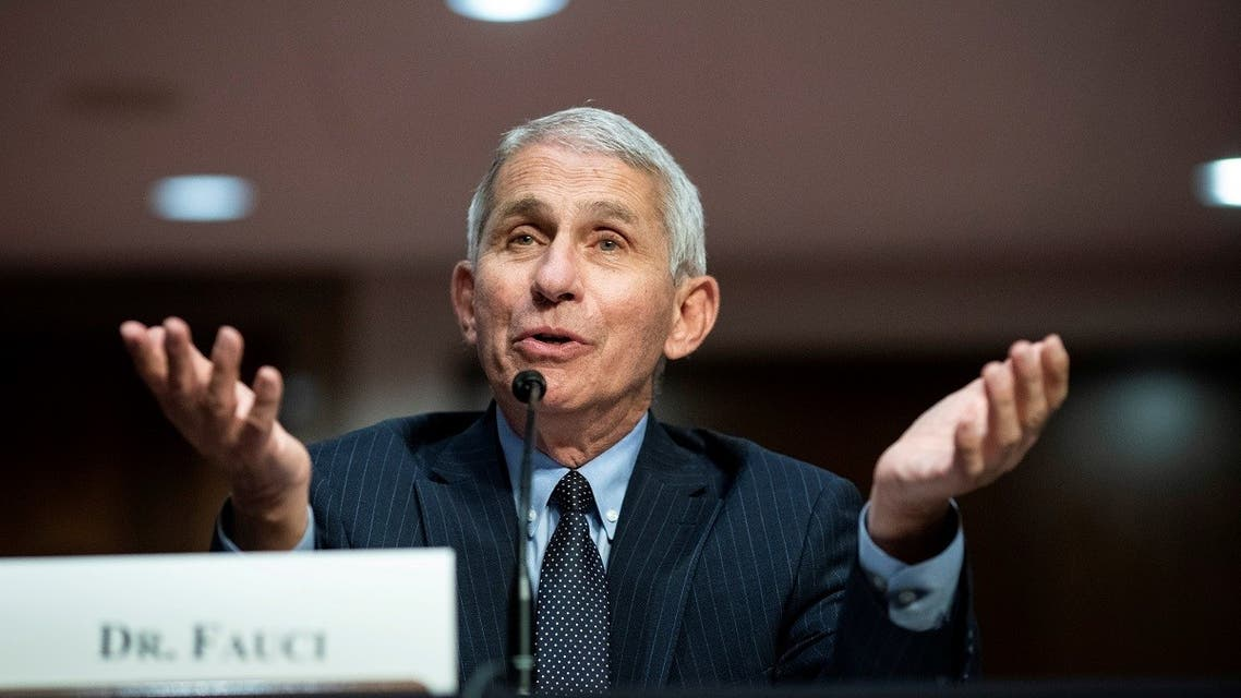 Anthony Fauci, director of the National Institute of Allergy and Infectious Diseases, speaks during a Senate Health, Education, Labor and Pensions Committee hearing. (Reuters)