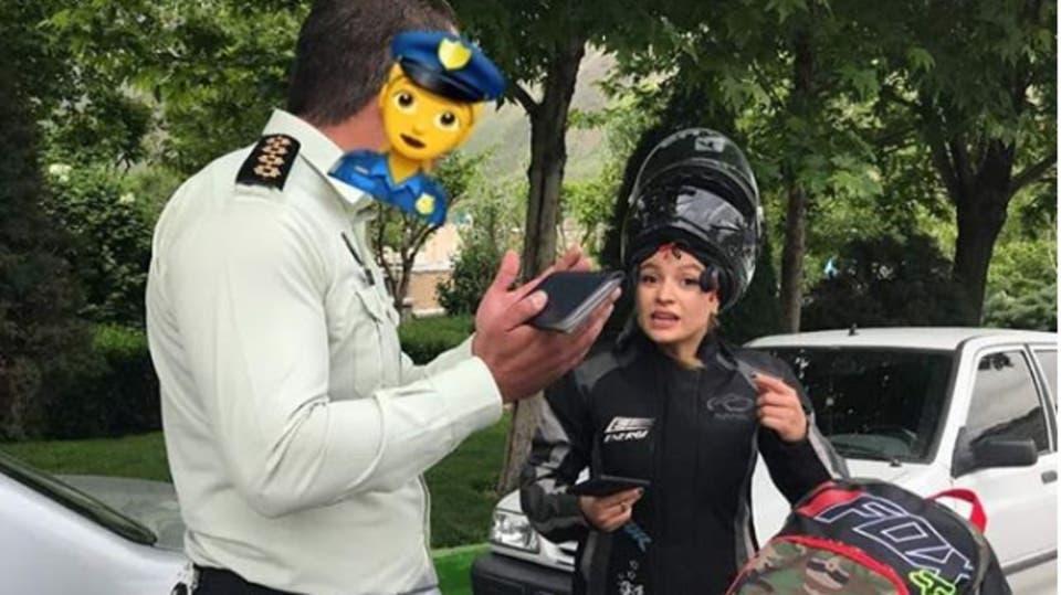 بهناز بهشتی قهرمان موتور ریس بانوان