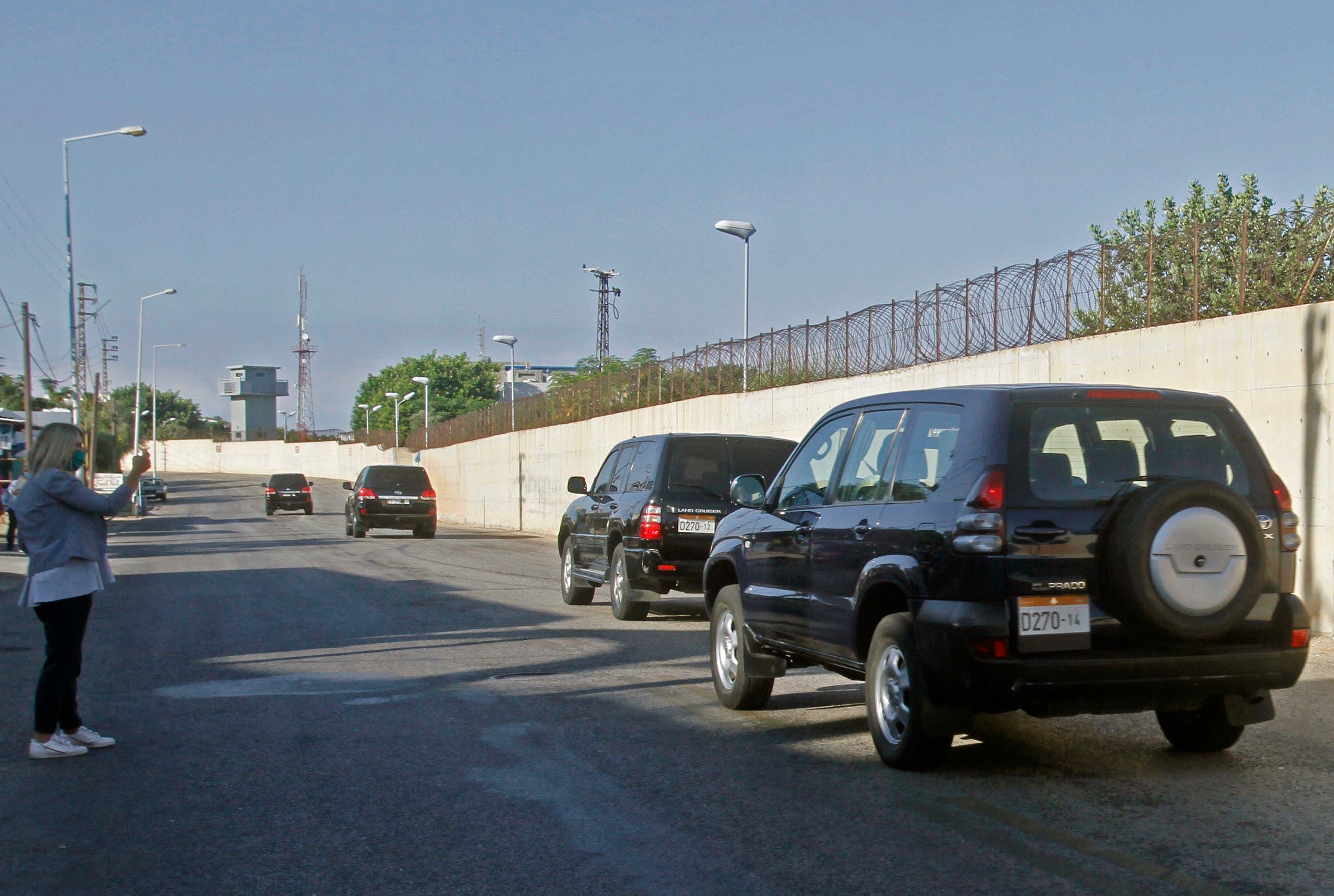 من محيط مقر اجتماع الوفد المفاوض في ترسيم الحدود بين لبنان وإسرائيل (أرشيفية- فرانس برس)