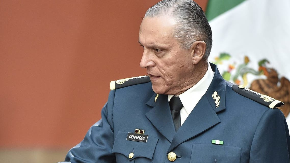 وزير الدفاع المكسيكي السابق سالفادور سيينفويغوس(أرشيفية- فرانس برس)