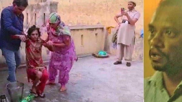 شاهد امرأة يخرجونها من حمام حبسها زوجها فيه 18 شهراً
