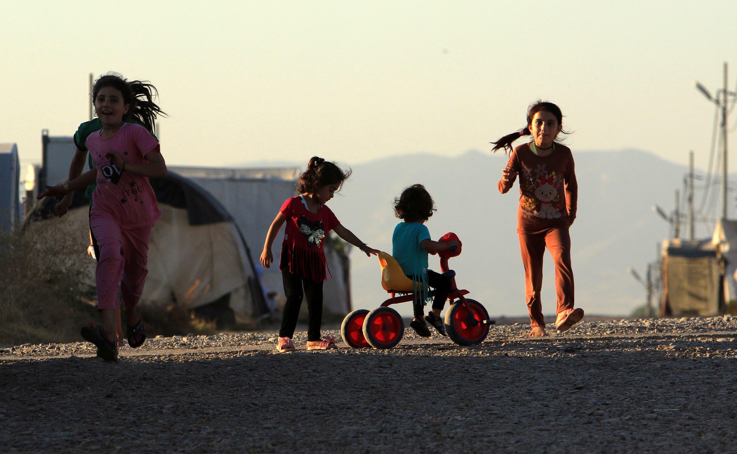 مخيم للنازحين في دهوك يأوي سكانا هربوا من سنجار (أرشيفية)