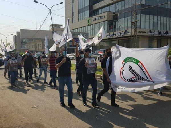 شغب في العراق.. موالو الحشد يحرقون مقر حزب كردي ببغداد