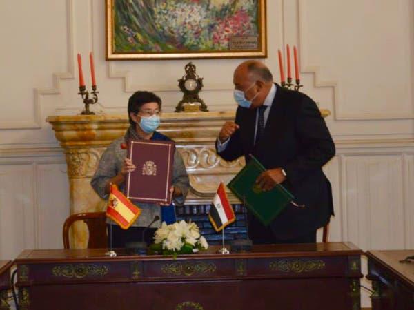 توافق مصري إسباني حول ليبيا.. حل سلمي تحت مظلة أممية