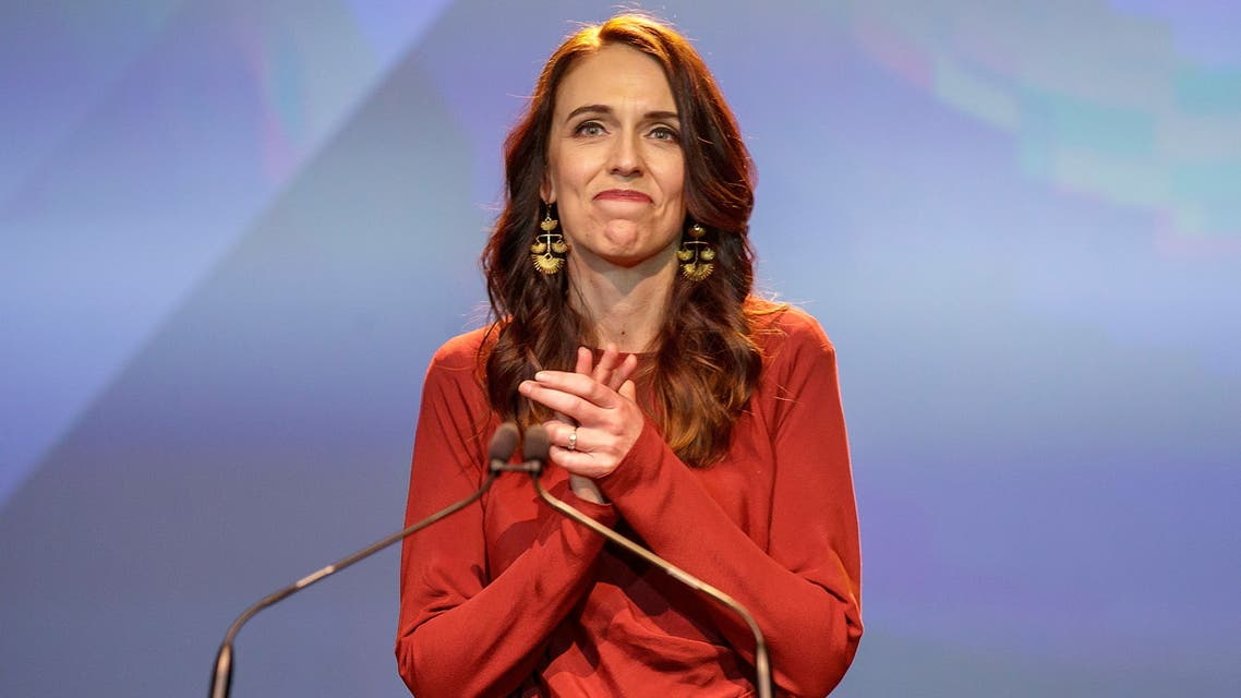 New Zealand Prime Minister Jacinda Ardern speaks at the Labour Party election night event in Auckland, New Zealand, October 17, 2020. AAP Image/David Rowland via REUTERS ATTENTION EDITORS - THIS IMAGE WAS PROVIDED BY A THIRD PARTY. NO RESALES. NO ARCHIVE. AUSTRALIA OUT. NEW ZEALAND OUT