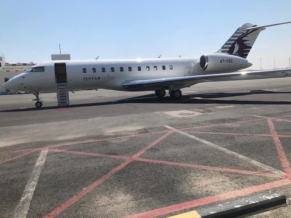 الطائرة القطرية التي تقل الشافعي لموريتانيا