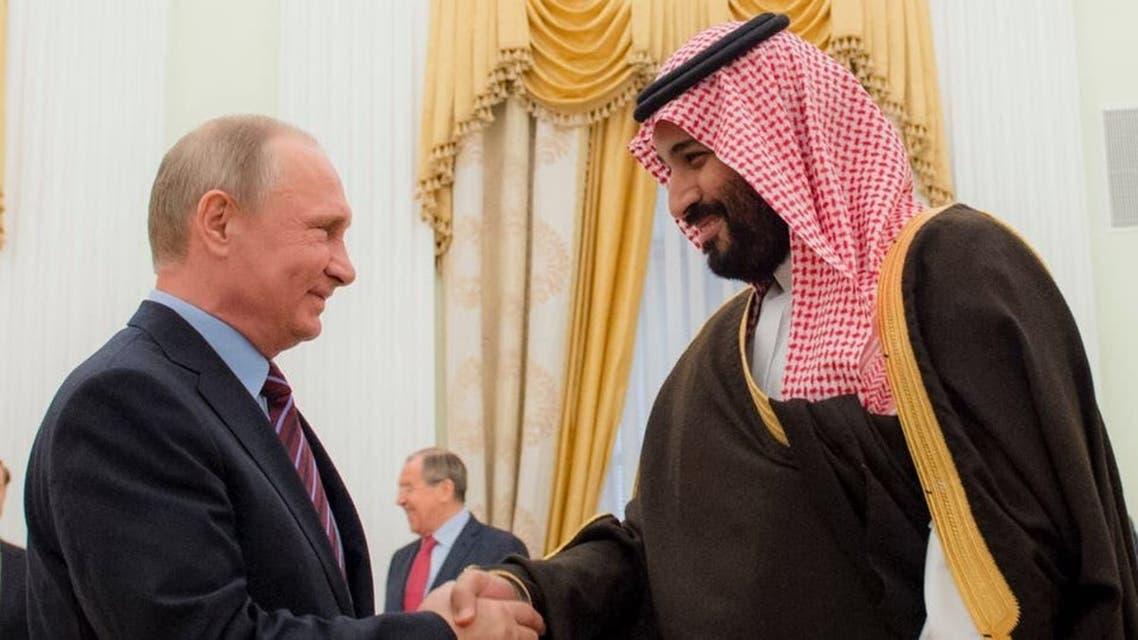 الأمير محمد بن سلمان مع الرئيس الروسي فلاديمير بوتين