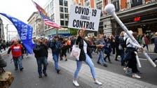 Coronavirus: UK police arrest 155 in anti-lockdown protests in London