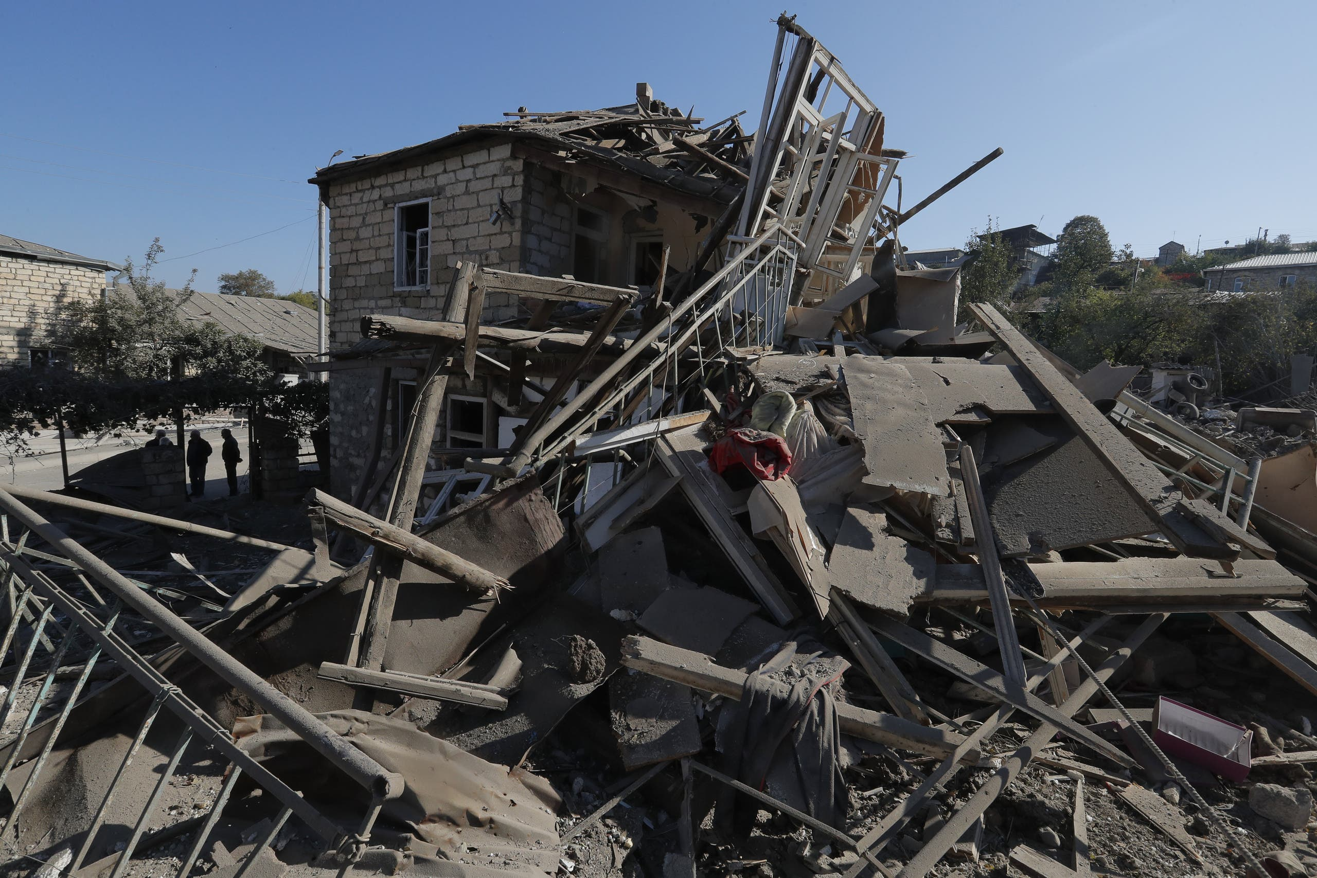 A view shows theA view shows the ruins of a building following recent shelling during a military conflict over the breakaway region of Nagorno-Karabakh. (File photo: Reuters)