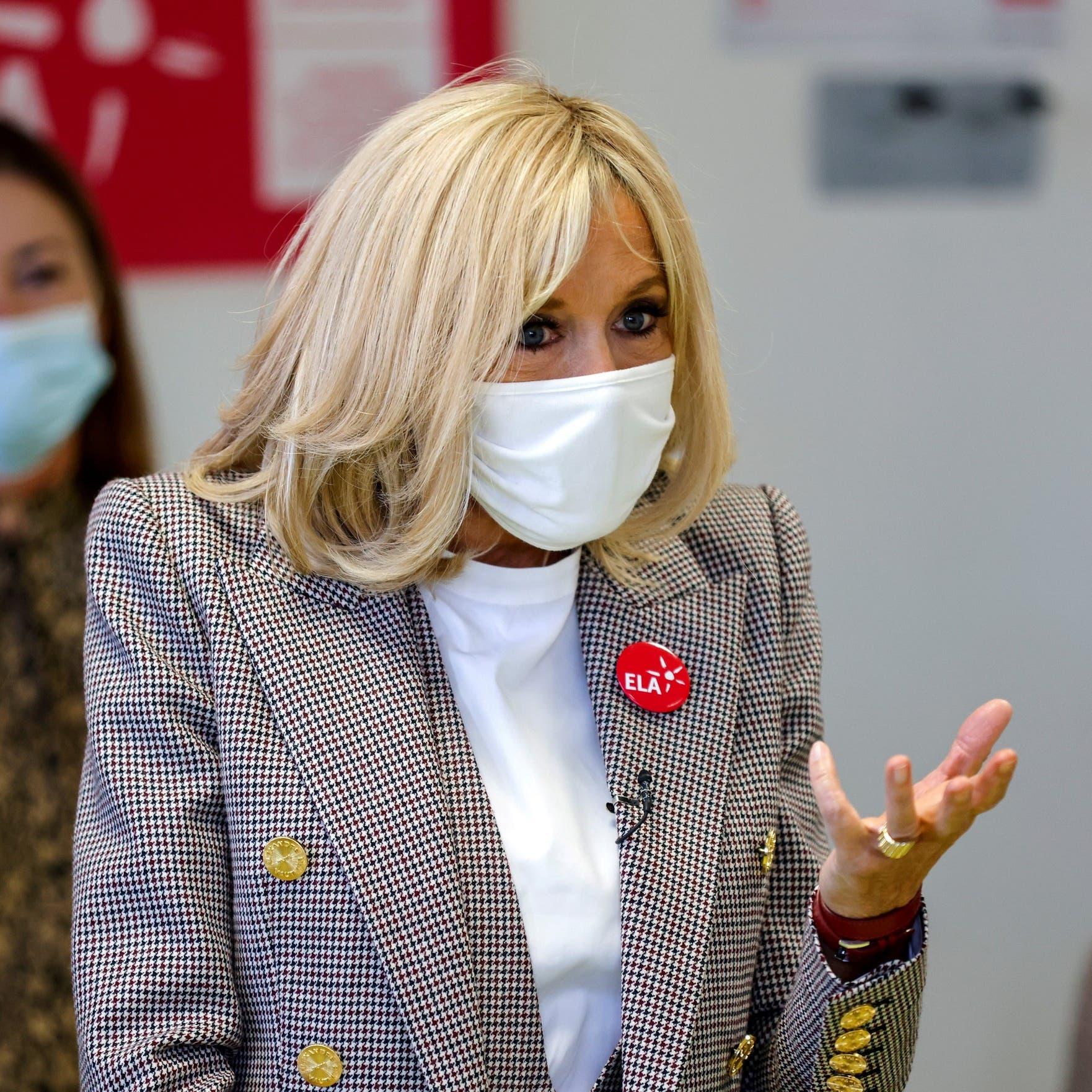 زوجة الرئيس الفرنسي تدخل الحجر بعد مخالطتها لمصاب بكورونا