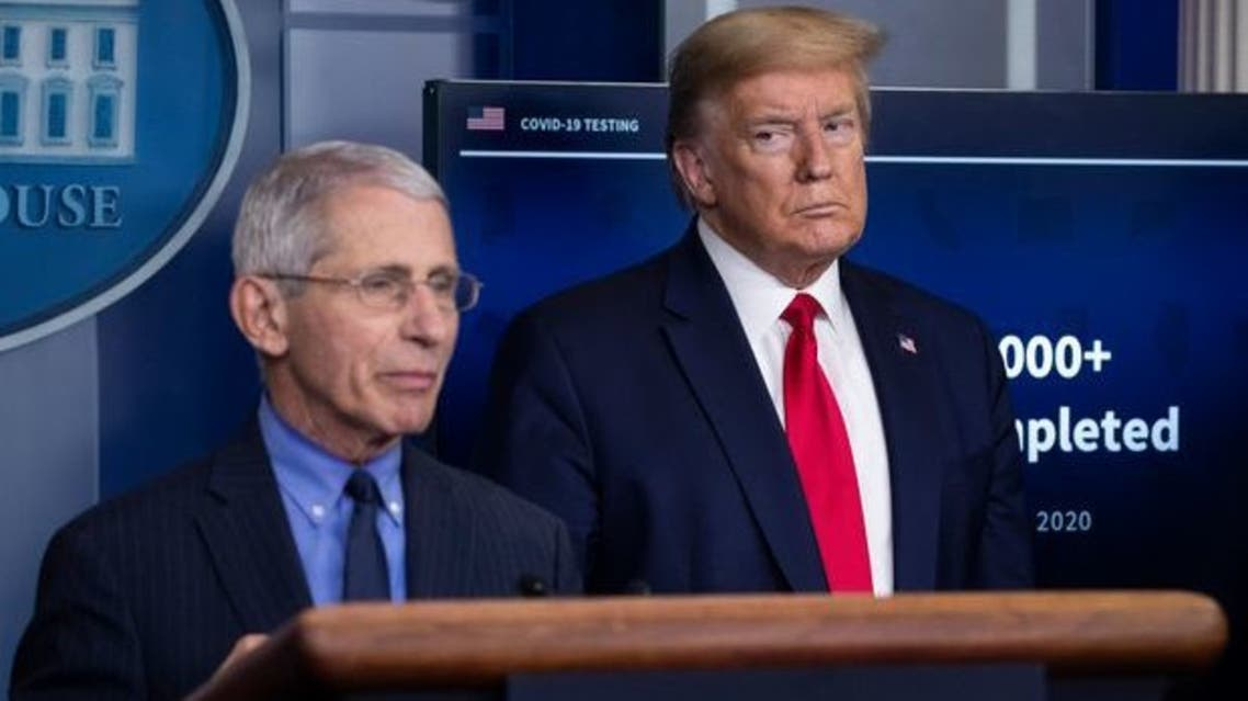 أنتوني فاوتشي ودونالد ترمب في البيت الأبيض