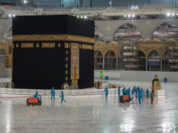 4000 عامل وعاملة لغسيل وتطهير المسجد الحرام يومياً