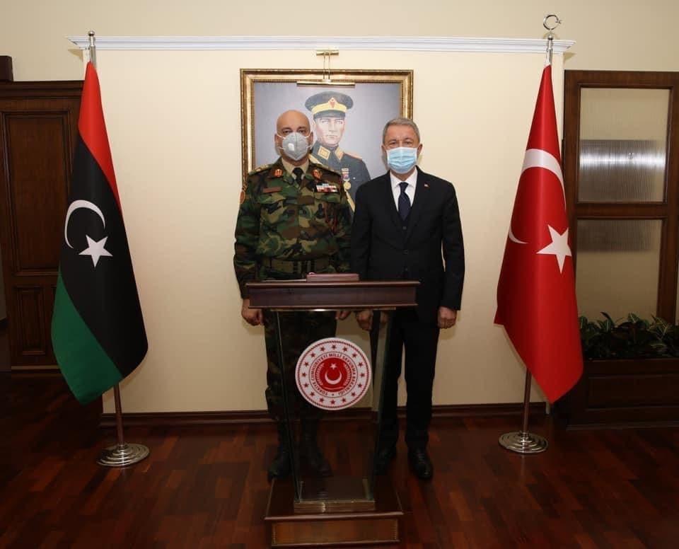 رئيس أركان حكومة الوفاق الليبية يلتقي وزير الدفاع التركي