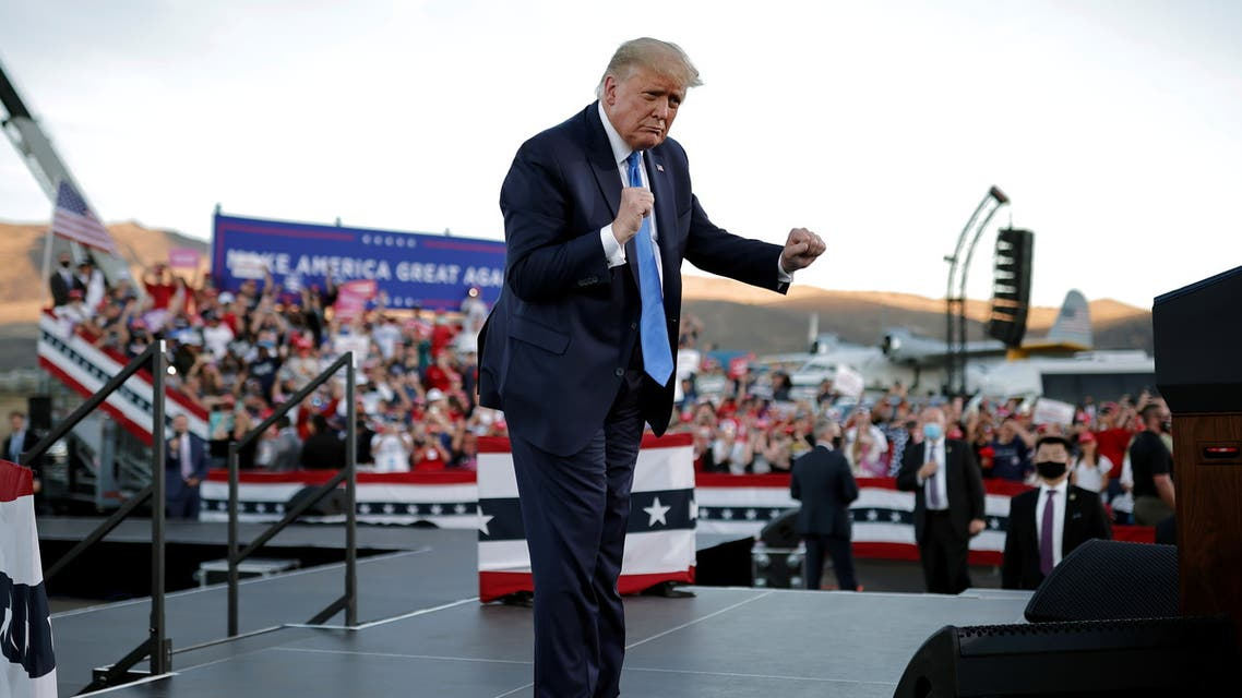 U.S. President Donald Trump holds a campaign rally in Carson City, Nevada, U.S., October 18, 2020. REUTERS/Carlos Barria